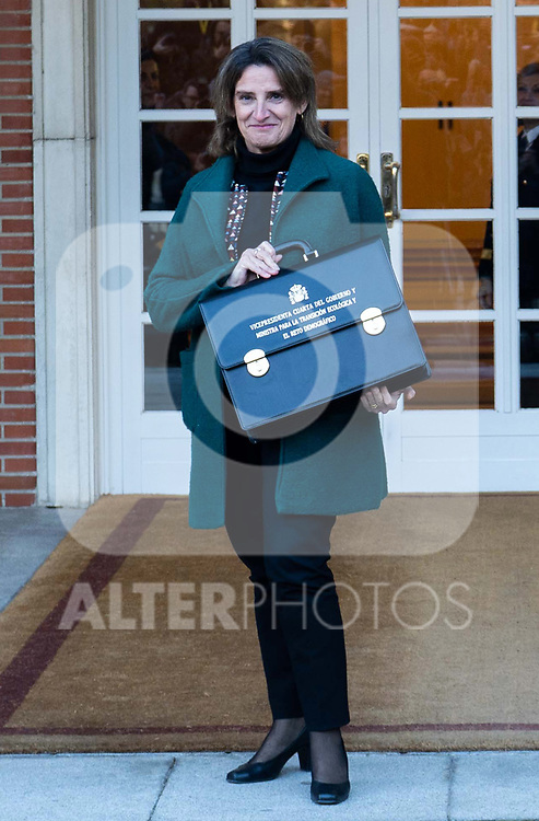 Spain's Deputy Prime Minister of Ecological Transition and Demographic Challenge Teresa Ribera attends the first cabinet meeting of the new government. January 14,2020. (ALTERPHOTOS/Ander Beizama)