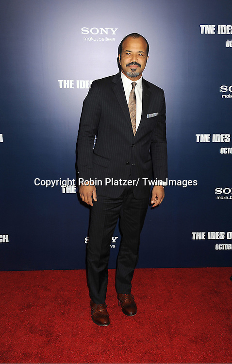 "Jeffrey Wright  attends the New York Premiere of ""The Ides of March"" ..on October 5, 2011 at The Ziegfeld Theatre in New York City. The movie stars George Clooney, Marisa Tomei, Evan Rachel Wood, Paul Giamatti, Phillip Seymour Hoffman and Jeffrey Wright."