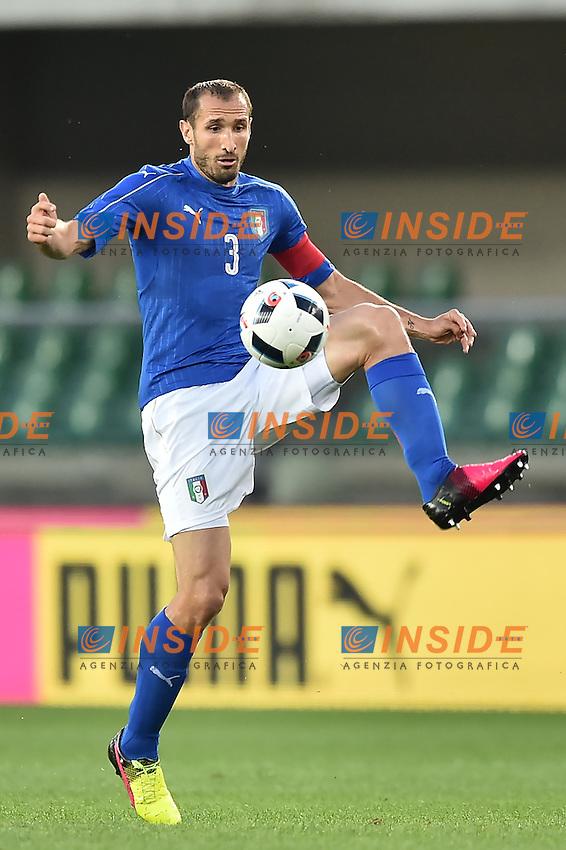 Giorgio Chiellini Italia <br /> Verona 06-06-2016 Stadio Bentegodi Football Friendly Match Italia - Finlandia / Italy - Finland . Foto Andrea Staccioli / Insidefoto