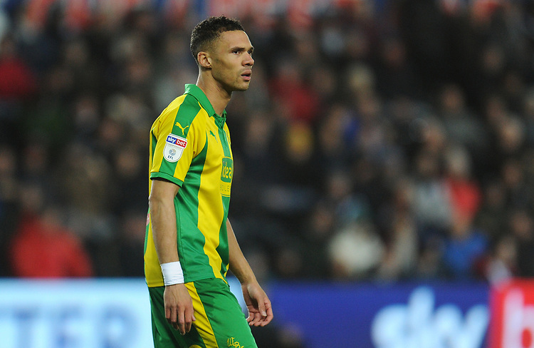 West Bromwich Albion's Kieran Gibbs<br /> <br /> Photographer Kevin Barnes/CameraSport<br /> <br /> The EFL Sky Bet Championship - Swansea City v West Bromwich Albion - Wednesday 28th November 2018 - Liberty Stadium - Swansea<br /> <br /> World Copyright &copy; 2018 CameraSport. All rights reserved. 43 Linden Ave. Countesthorpe. Leicester. England. LE8 5PG - Tel: +44 (0) 116 277 4147 - admin@camerasport.com - www.camerasport.com