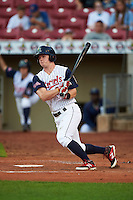 Cedar Rapids Kernels outfielder Austin Diemer (23) at bat during a game against the Kane County Cougars on August 18, 2015 at Perfect Game Field in Cedar Rapids, Iowa.  Kane County defeated Cedar Rapids 1-0.  (Mike Janes/Four Seam Images)