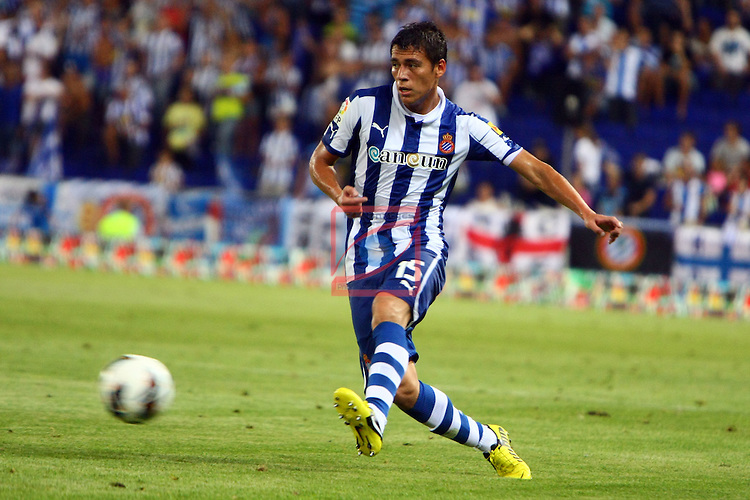 Hector Moreno. RCD Espanyol vs R. Zaragoza: 1-2 - League LFP-BBVA 2012/13 - Game: 2.