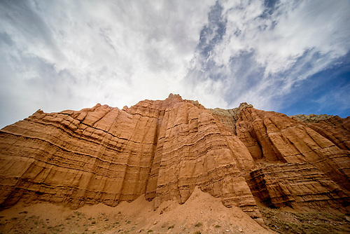 Unusual sandstone rock formations are unique to Capitol Reef National Park, Utah
