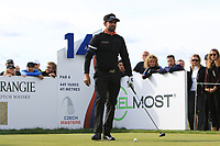 Lee Slattery (ENG) on the 14th tee during Round 4 of the D+D Real Czech Masters at the Albatross Golf Resort, Prague, Czech Rep. 03/09/2017<br /> Picture: Golffile   Thos Caffrey<br /> <br /> <br /> All photo usage must carry mandatory copyright credit     (&copy; Golffile   Thos Caffrey)