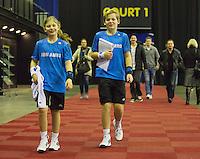 10-02-14, Netherlands,Rotterdam,Ahoy, ABNAMROWTT, Sportplaza, Ballkids<br /> Photo:Tennisimages/Henk Koster