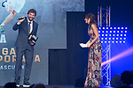 Sergio Llull picks up Jayze Carroll's Prize during the first edition of Spanish Basketball Awards. July 25, 2019. (ALTERPHOTOS/Francis Gonzalez)
