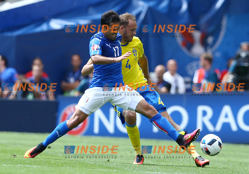 Eder Italy and Andreas Granqvist Sweden<br /> Toulouse 17-06-2016 Stade Velodrome Footballl Euro2016 Italy - Sweden  / Italia - Svezia Group Stage Group E. Foto Matteo Ciambelli / Insidefoto