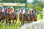 Action from the Ted Moynihan Memorial Maiden at the Killarney races on Tuesday Dermot Weld 9/4 favourite Photo Opportunity (in the Pink Cap) won the race ridden by Pat Smullen, Swing Pattern was second and Gonebeyondthemoon was third