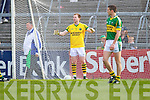 Keeper Brendan Kealy after Limerick's Seamus O'Carroll scores their third goal in the Muster Senior Semi final held in The Gaelic Grounds last Saturday evening.