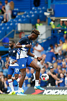 Tammy Abraham of Chelsea juggling a ball during the Premier League match between Chelsea and Sheff United at Stamford Bridge, London, England on 31 August 2019. Photo by Carlton Myrie / PRiME Media Images.