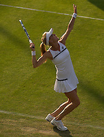 Agnieszka Radwanska<br /> <br /> Tennis - The Championships Wimbledon  - Grand Slam -  All England Lawn Tennis Club  2013 -  Wimbledon - London - United Kingdom - Tuesday 25th June  2013. <br /> &copy; AMN Images, 8 Cedar Court, Somerset Road, London, SW19 5HU<br /> Tel - +44 7843383012<br /> mfrey@advantagemedianet.com<br /> www.amnimages.photoshelter.com<br /> www.advantagemedianet.com<br /> www.tennishead.net