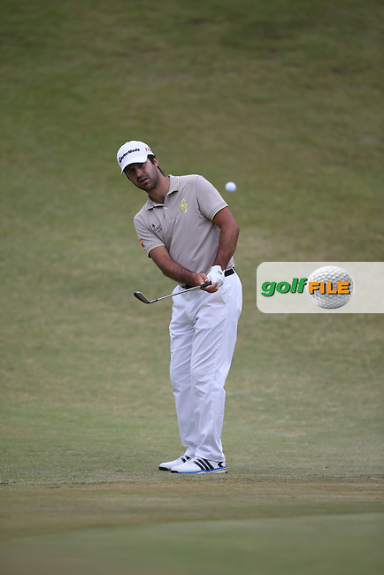 Jorge Campillo (ESP) chips to the 5th during Round Two of the Africa Open 2015 at the East London Golf Club, East London, Eastern Cape, South Africa. Picture:  David Lloyd / www.golffile.ie. 06/03/2015