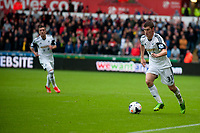Saturday 17 August 2013<br /> <br /> Pictured: Ben Davies of Swansea<br /> <br /> Re: Barclays Premier League Swansea City v Manchester United at the Liberty Stadium, Swansea, Wales