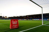 A general view of the playing surface during the The Leasing.com Trophy match between AFC Wimbledon and Leyton Orient at the Cherry Red Records Stadium, Kingston, England on 8 October 2019. Photo by Carlton Myrie / PRiME Media Images.