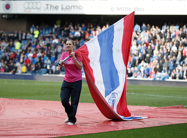 Ladies day for the Rangers flagbearers