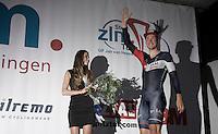 Roger Kluge (DEU/IAM) arriving on the podium after winning the prologue<br /> <br /> stage 1: prologue<br /> Ster ZLM Tour 2015