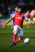 Fleetwood Town's Ched Evans in action<br /> <br /> Photographer Richard Martin-Roberts/CameraSport<br /> <br /> The EFL Sky Bet League One - Fleetwood Town v Peterborough United - Friday 19th April 2019 - Highbury Stadium - Fleetwood<br /> <br /> World Copyright © 2019 CameraSport. All rights reserved. 43 Linden Ave. Countesthorpe. Leicester. England. LE8 5PG - Tel: +44 (0) 116 277 4147 - admin@camerasport.com - www.camerasport.com