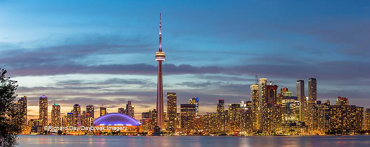 60912-00312 Toronto skyline at dusk from Toronto Island Park Toronto, Ontario Canada