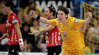 EHF Champions League Handball Damen / Frauen / Women - HC Leipzig HCL : SD Itxako Estella (spain) - Arena Leipzig - Gruppenphase Champions League - im Bild: Anne Müller jubelt nach einem Treffer. Foto: Norman Rembarz .