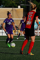 Rochester, NY - Saturday June 11, 2016: Orlando Pride midfielder Josee Belanger (9), Western New York Flash midfielder Samantha Mewis (5) during a regular season National Women's Soccer League (NWSL) match between the Western New York Flash and the Orlando Pride at Rochester Rhinos Stadium.