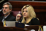 Nevada Assemblywoman Michele Fiore, R-Las Vegas, works on the Assembly floor during a special session at the Legislative Building in Carson City, Nev. on Thursday, Oct. 13, 2016. <br /> Photo by Cathleen Allison