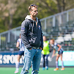 BLOEMENDAAL - Hockey- competitiewedstrijd Bloemendaal MA1-HDM MA1 . coach Warner van der Vegt (Bl'daal).  COPYRIGHT KOEN SUYK