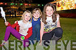 Cousins Lucey, Evelyn and Holly Aherne from Ballylongford enjoying the carnival at the Ballylongford Oyster Festival last Saturday night