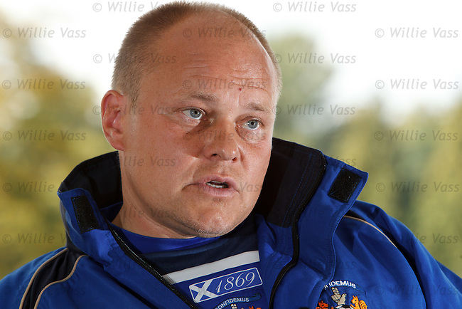 Mixu Paatelainen holding his pre match press briefing