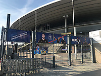 Banner der Equipe Tricolore am Stade de France - 15.10.2018: Pressekonferenz DFB vor dem Spiel Frankreich vs. Deutschland, 4. Spieltag UEFA Nations League, Stade de France, DISCLAIMER: DFB regulations prohibit any use of photographs as image sequences and/or quasi-video.