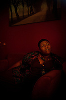 Los Angeles, California, September 29, 2011 - A portrait of singer/songwriter Stacy Barthe in her North Hollywood home. Barthe is known for her songwriting, notably for Rihanna, Brtiney Spears, Katy Perry, Black Eyed Peas, and Diddy to name a few. But she has since moved in front of the microphone releasing two EPs this year alone. Barthe says she draws inspiration from her own life for her lyrics.  &quot;I believe the music I create fosters security and encourages those that hear it to embrace what makes them different and to find the beauty within their situation,&quot; says Barthe...<br /> <br /> CREDIT: Daryl Peveto