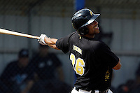 10 September 2011: Percy Isenia of L&D Amsterdam Pirates is seen at bat during game 4 of the 2011 Holland Series won 6-2 by L&D Amsterdam Pirates over Vaessen Pioniers, in Amsterdam, Netherlands.