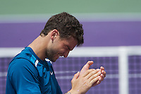 KEY BISCAYNE, FL - MARCH 25: Grigor Dimitrov competes during Day 7 of the Sony Ericsson Open in Miami on March 25th, 2012 in Key Biscayne, FL. ( Photo by Chaz Niell/Media Punch Inc.)