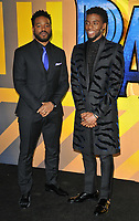 Ryan Coogler and Chadwick Boseman at the &quot;Black Panther&quot; European film premiere, Hammersmith Apollo (Eventim Apollo), Queen Caroline Street, London, England, UK, on Thursday 08 February 2018.<br /> CAP/CAN<br /> &copy;CAN/Capital Pictures