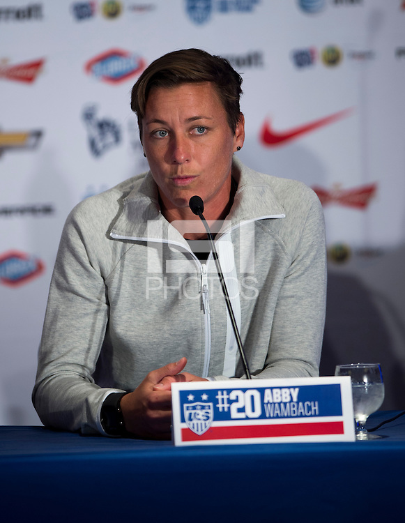 New York, NY - May 27, 2015: The USWNT held their media day in preparation for the upcoming FIFA World Cup in Canada.