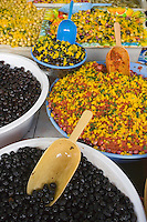 Afrique/Afrique du Nord/Maroc/Rabat: détail de l'étal du marchand d'Olives
