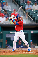 Buffalo Bisons second baseman Tim Lopes (5) at bat during a game against the Lehigh Valley IronPigs on June 23, 2018 at Coca-Cola Field in Buffalo, New York.  Lehigh Valley defeated Buffalo 4-1.  (Mike Janes/Four Seam Images)