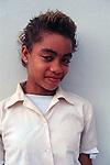 Teenage school girl, Cayman Brac, Cayman Islands,