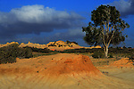 Image of part of the Ancient Walls of China in the Mungo National Park. NSW Australia. Taken at dusk