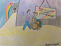 Thank you health workers.  Sophia Tippie Grade 3. Yarmouth ME, USA
