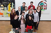 """Pictured: group shot of RA students. The Royal Academy Schools annual exhibition """"Premiums Interim Projects"""" features the work of 17 postgraduate students in their second year of study at the prestigious RA Schools. The artists present a broad range of work, from drawing and painting to sculptural installation and performance work. The following artists are exhibiting in the show: Caroline Abbotts, Rebecca Ackroyd, Victoria Adam, Matthew Ager, Sofie Alsbo, Hannah Bays, Josie Cockram, Henry Coleman, Adam Collier, Ziggy Grudzinskas, Maria de Lima, Declan Jenkins, Evelyn O'Connor, Laurence Owen, Max Prus, Sean Steadman and Joel Whyllie. The exhibition is open from 7 to 19 March 2014, Burlington Gardens, RA, London."""