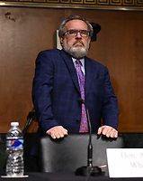 "Andrew Wheeler, Administrator, United States Environmental Protection Agency (EPA) arrives at a hearing titled ""Oversight of the Environmental Protection Agency"" in the Dirksen Senate Office Building on May 20, 2020 in Washington, DC.    <br /> Credit: Kevin Dietsch / Pool via CNP/AdMedia"