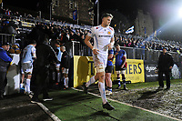 Jonny Hill and the rest of the Exeter Chiefs team run onto the field. Aviva Premiership match, between Bath Rugby and Exeter Chiefs on March 23, 2018 at the Recreation Ground in Bath, England. Photo by: Patrick Khachfe / Onside Images