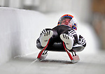 7 February 2009: Domen Pociecha slides for Slovenia in the Men's Competition at the 41st FIL Luge World Championships, in Lake Placid, New York, USA. .  .Mandatory Photo Credit: Ed Wolfstein Photo