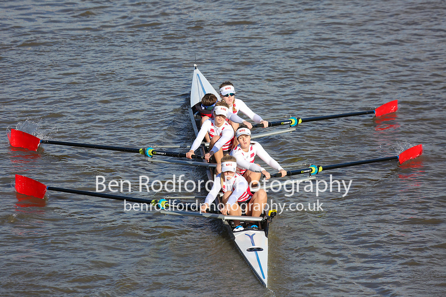 Crew: 153  KRC (C)  Kingston RC (E Quin)  W 4+ Jun Champ<br /> <br /> Fours Head of the River 2018<br /> <br /> To purchase this photo, or to see pricing information for Prints and Downloads, click the blue 'Add to Cart' button at the top-right of the page.