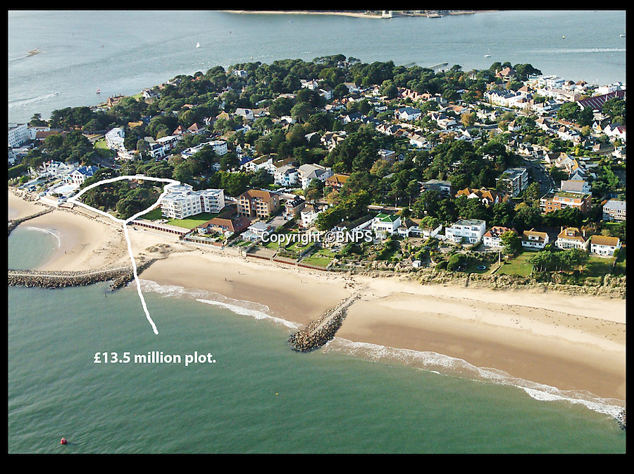 BNPS.co.uk (01202 558833)<br /> Pic: BNPS<br /> <br /> The area of Sandbanks where the two new homes will be built. <br /> <br /> Two luxury homes squeezed onto a plot meant for one have gone up for sale for 13 million pounds - three times the value of the former property.<br /> <br /> A three bedroom house occupied the site on Sandbanks in Poole Harbour until it was bought for 4.25 million pounds and then promptly demolished.<br /> <br /> A development company decided to eke out every square inch of the plot by splitting it in two and building a pair of four storey beachfront houses worth 6.5 million pounds each.