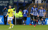 Blackburn Rovers' Craig Conway cuts a dejected figure as his side slip further behind<br /> <br /> Photographer David Shipman/CameraSport<br /> <br /> The EFL Sky Bet Championship - Sheffield Wednesday v Blackburn Rovers - Saturday 16th March 2019 - Hillsborough - Sheffield<br /> <br /> World Copyright &copy; 2019 CameraSport. All rights reserved. 43 Linden Ave. Countesthorpe. Leicester. England. LE8 5PG - Tel: +44 (0) 116 277 4147 - admin@camerasport.com - www.camerasport.com
