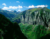 Bear Creek drainage high above the town of Telluride, Colorado.
