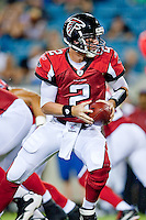 August 19, 2011:   Atlanta Falcons quarterback Matt Ryan (2) prepares to hand off during pre season action between the Jacksonville Jaguars and the Atlanta Falcons at EverBank Field in Jacksonville, Florida.   Jacksonville defeated the Falcons 15-13.........