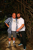 Tenacious D - Jack Black and Kyle Gass photographed exclusively in Sherman Oaks, CA USA - July 7, 2008.  Photo: © Zach Cordner / IconicPix