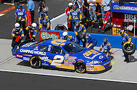 Apr 28, 2007; Talladega, AL, USA; Nascar Busch Series driver Clint Bowyer (2) pits during the Aarons 312 at Talladega Superspeedway. Mandatory Credit: Mark J. Rebilas